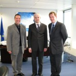 With Commissioner Spidla and Sir Graham Watson, MEP