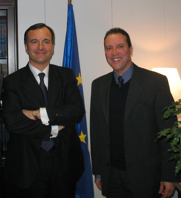 With EU Commissioner Franco Frattini