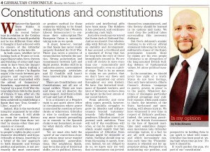 CONSTITUTIONS AND CONSTITUTIONS - OPINION 9 OCT 2017