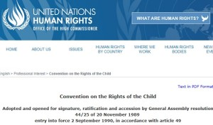 UN CONVENTION ON THE RIGHTS OF THE CHILD PIC